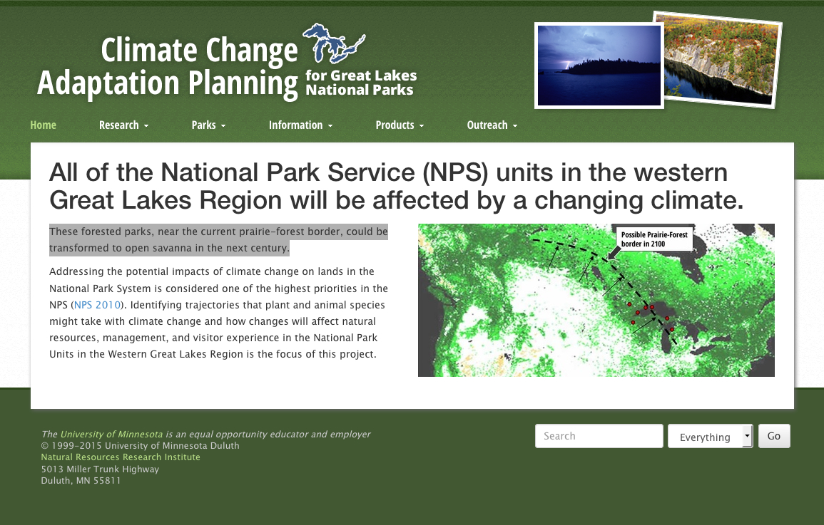 Project Websites | Natural Resources Research Institute