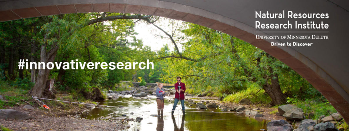 Researches study water in Amity Creek, Duluth