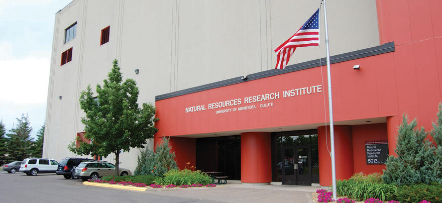 Summertime view of the Natural Resources Research Institute building