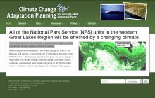 Screenshot of Climate Change Adaptation Planning for Great Lakes National Parks website