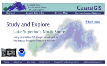 Screen shot of the Coastal GIS website.