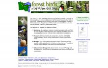 Screenshot of Forest Birds of the Western Great Lakes website