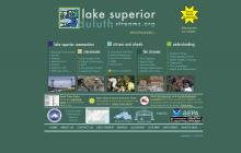 Screenshot of Duluth - Lake Superior Streams website