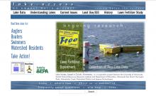Screenshot of Lake Access website
