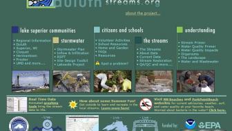 Screen grab of website homepage